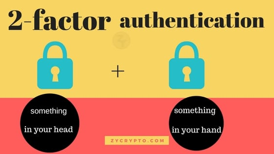 secure cryptocoins with 2 factor authentication