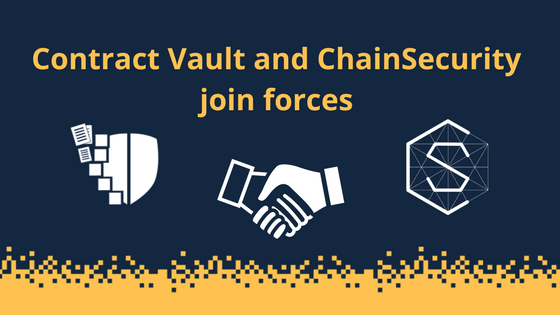 Blockchain Startups Contract Vault and ChainSecurity Sign Partnership to Revolutionize the Smart Contracts Auditing World