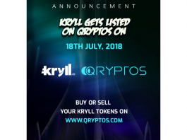 Kryll.io Cryptocurrency Trading Strategies Platform is now Live on QRYPTOS Exchange