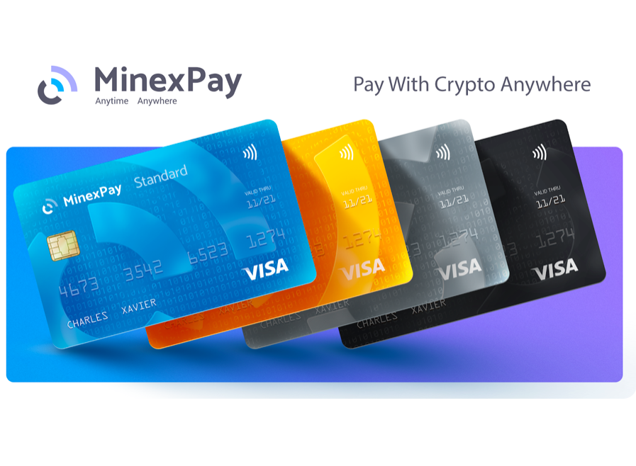 With the MinexPay Cryptocurrency Debit Card, Users can Pay with Cryptos Anywhere in the World