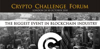 The world blockchain forum Event, Crypto Challenge Is Holding on 28-30 October