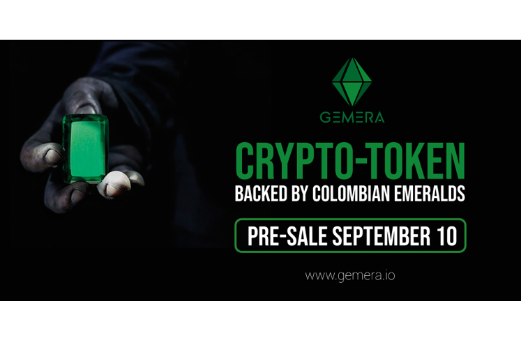 GEMERA Emerald-backed Cryptocurrency to go on Sale on September 10