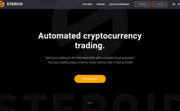 The announcement of the launch of a fully automatic trading robot by STEROID