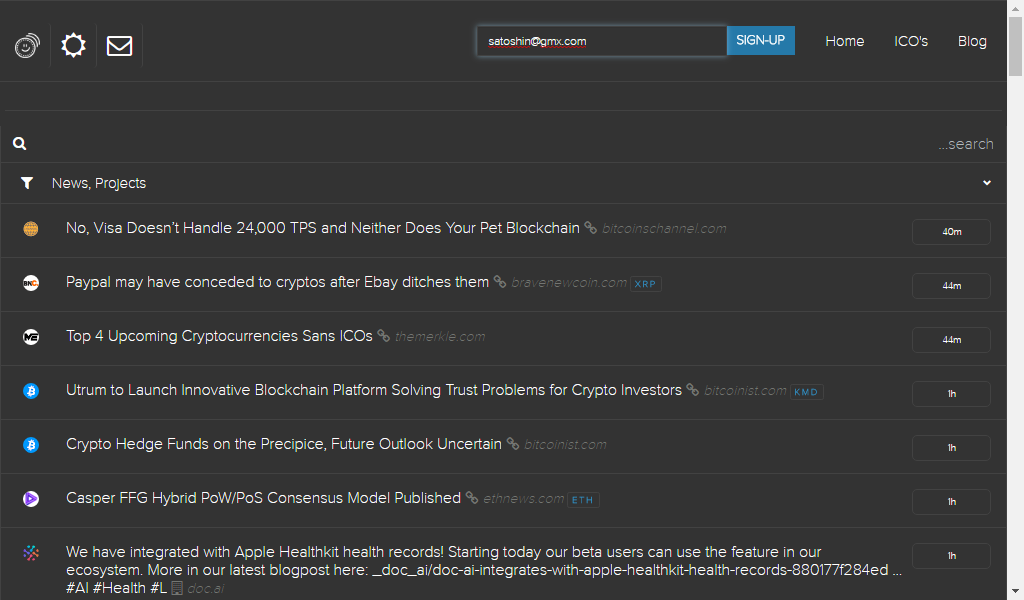 Coinspectator Aggregator Delivers reliable real time news for Crypto investors