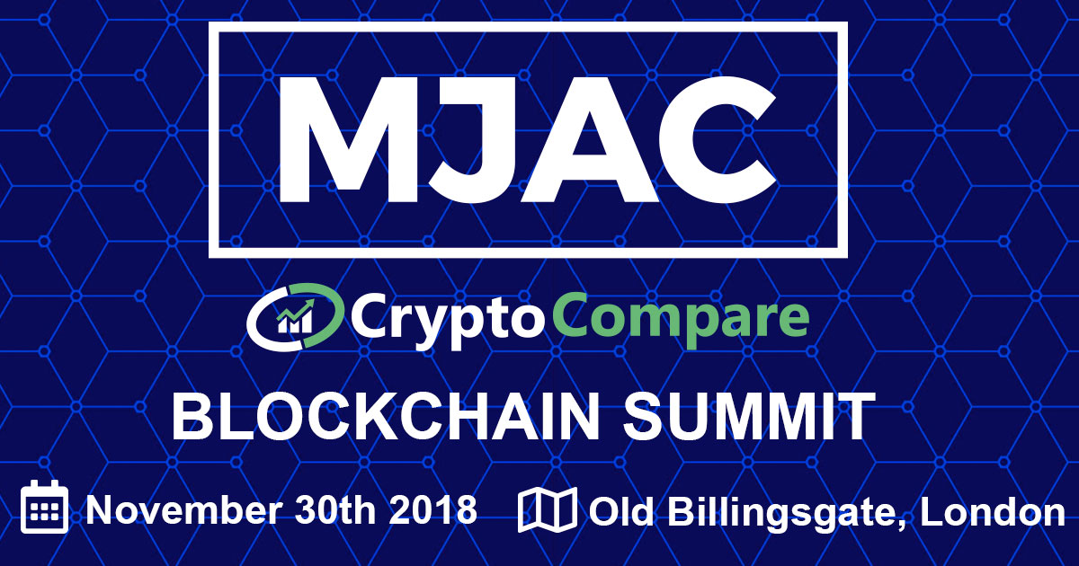 MJAC and CryptoCompare Kicks off Next London Blockchain Summit