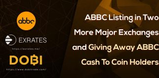 ABBC Listing in Two More Major Exchanges and Giving Away ABBC Cash To Coin Holders