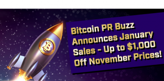 Blockchain PR Agency Bitcoin PR Buzz Announces January PR Sale with $200+ Discount