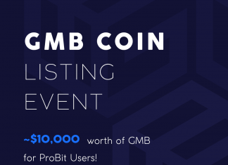 ProBit Exchange Lists GMB ~$10,000 Worth of GMB Coins For ProBit Users
