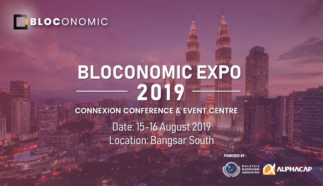 Blockchain key players to gather in Bloconomic Expo 2019
