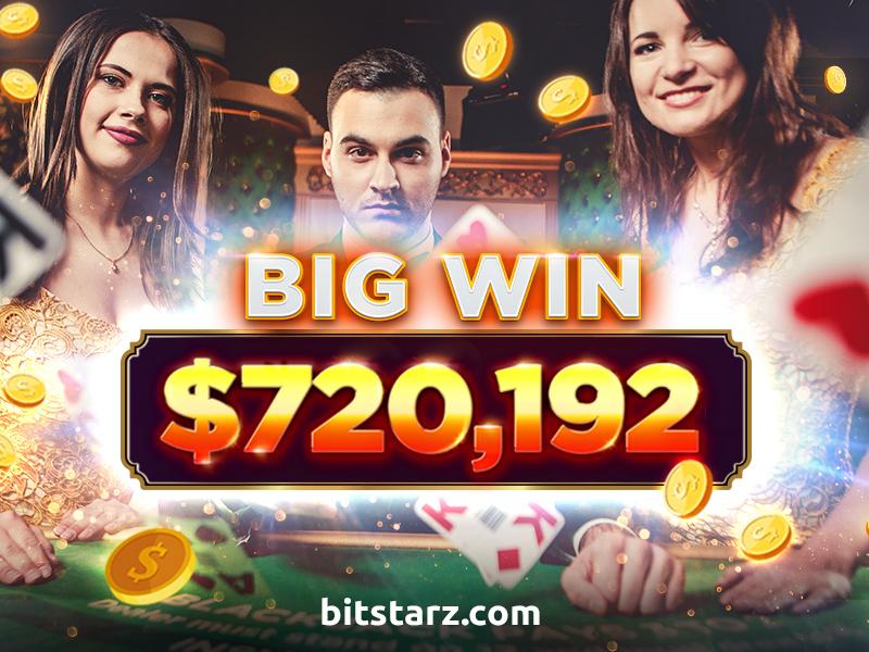 BitStarz Blackjack Player Wins $720,192 from 3 Hands!
