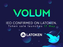 Volum and LAToken announce IEO for 17th of May