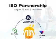Ten Billion Coin Inks Third Partnership Deal, IEO Listing Begins on August 28, 2019