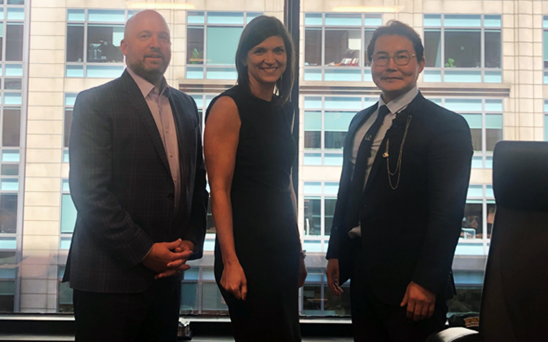 TNC Group CEO Bruce Jeong Meets Facebook Libra's Susan Zook