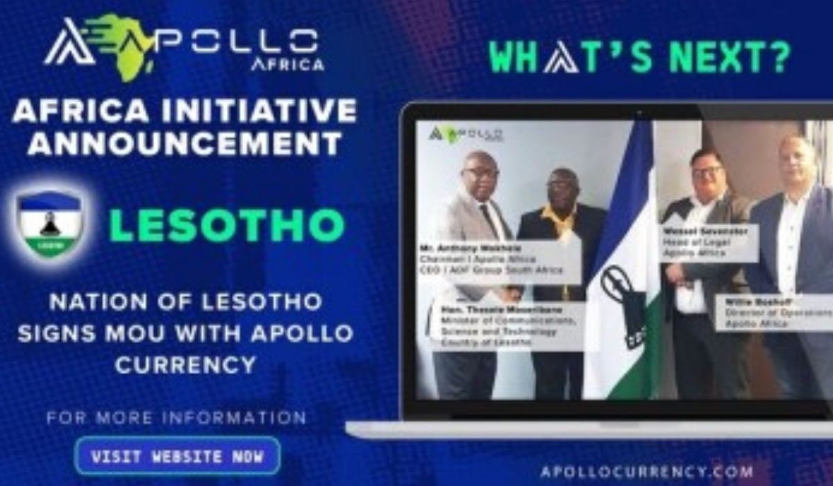 Apollo Crypto Project Inks Deal With the Government of Lesotho for Blockchain Initiative