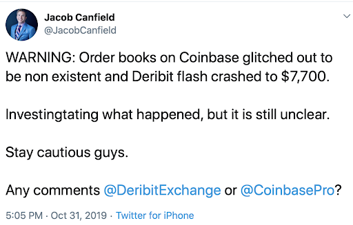 Crypto Halloween Horror: BitMEX User Data Leaked, Flash Crash Hits Coinbase & Deribit
