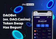 DAOBet (formerly DAO.Casino) Now Offering Users its BET Tokens Via its Token Swap Programme