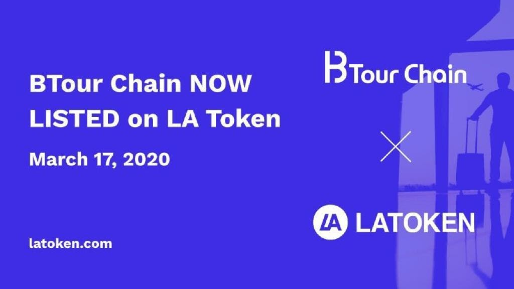 BTour Chain Now Listed on LA Token