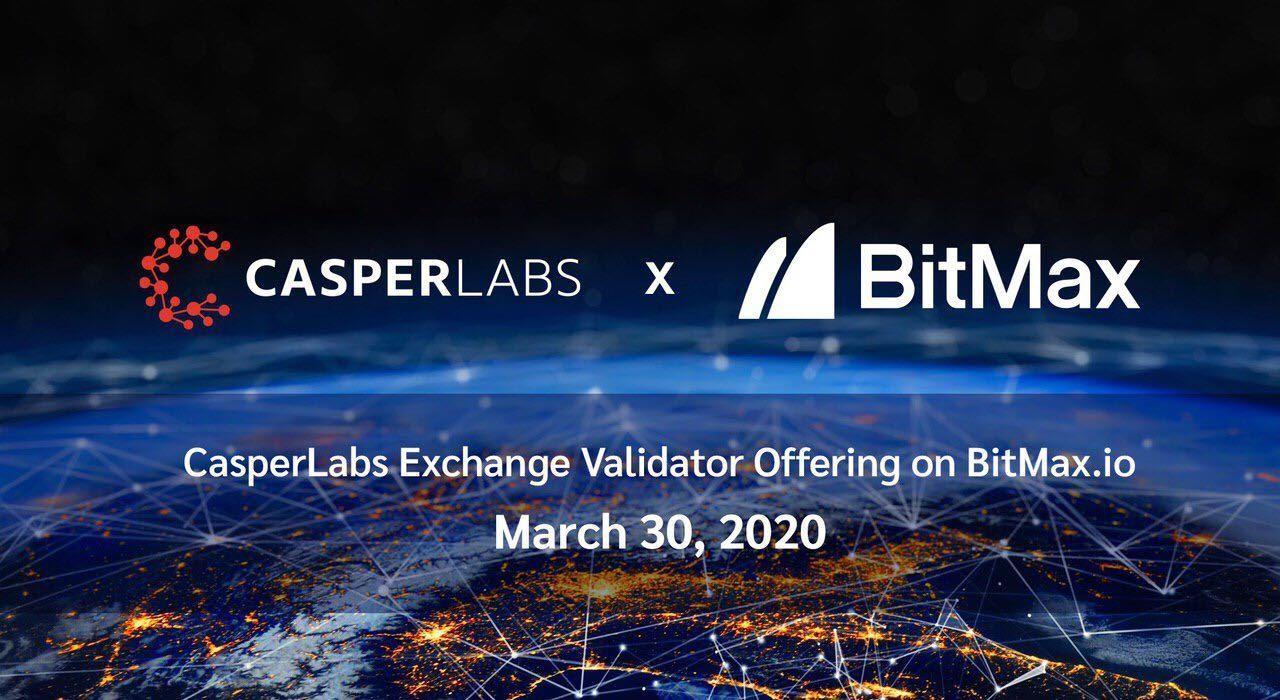 "CasperLabs Partners with BitMax.io to Conduct Innovative Exchange Validator Offering (""EVO"")"