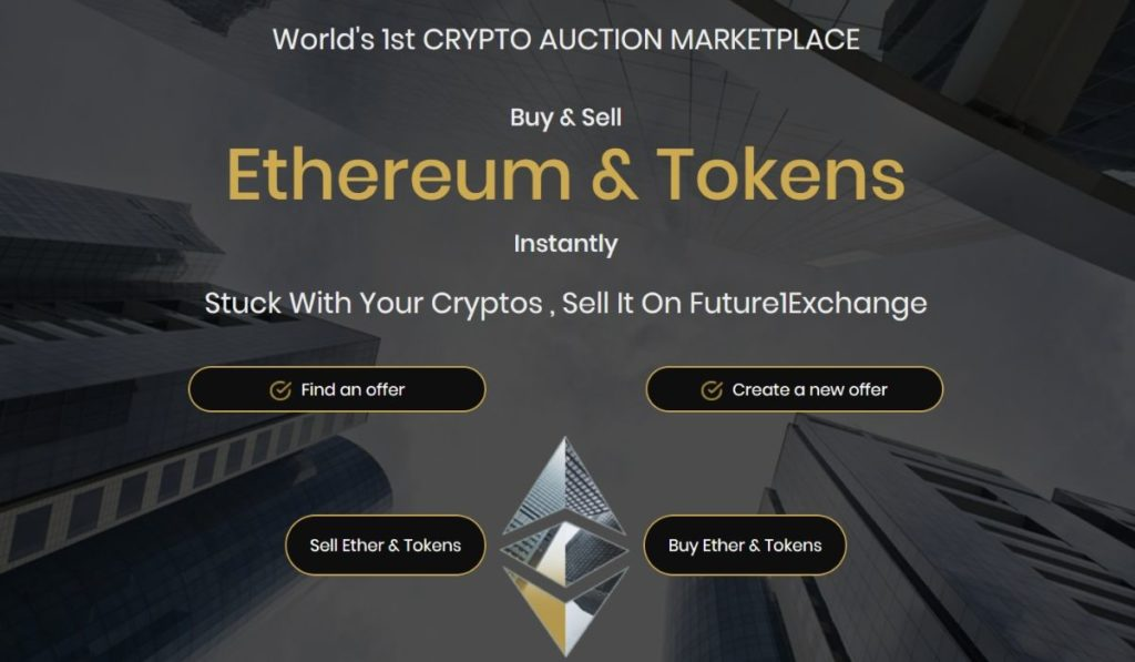 The Worlds 1st Crypto Auction Exchange launched by Future1Exchange