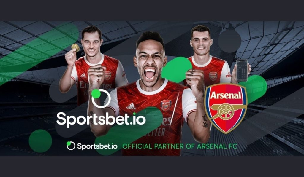 Crypto Sports Betting Website Sportsbet.io Signs 3-Year Betting Deal with Arsenal FC