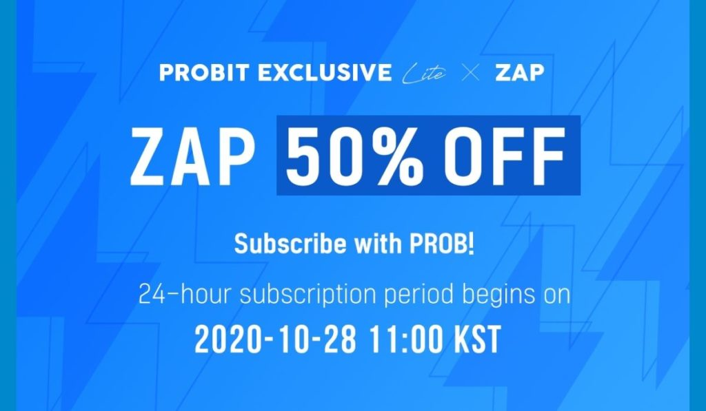 ZAP Set for Launch on ProBit Exchange's Exclusive Listing Marketplace Featuring 50% Discounts
