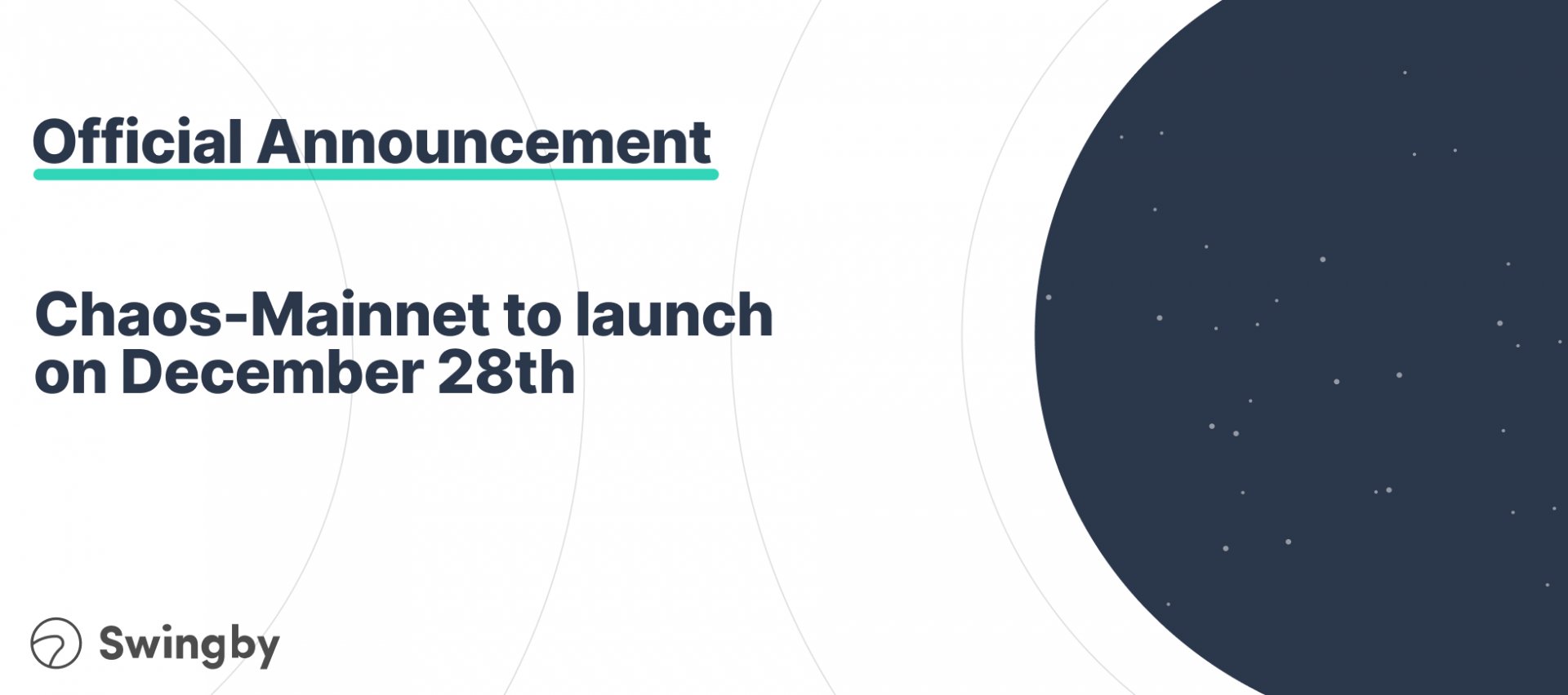 Ready for Chaos? Swingby's Chaos-Mainnet Launches on December 28th