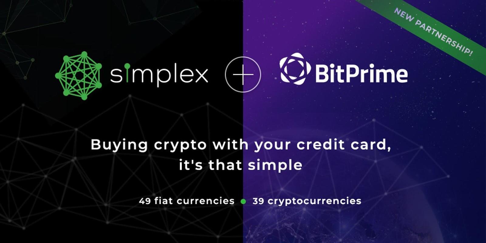 BitPrime Facilitates Crypto Purchases via Credit Card Through Simplex Partnership