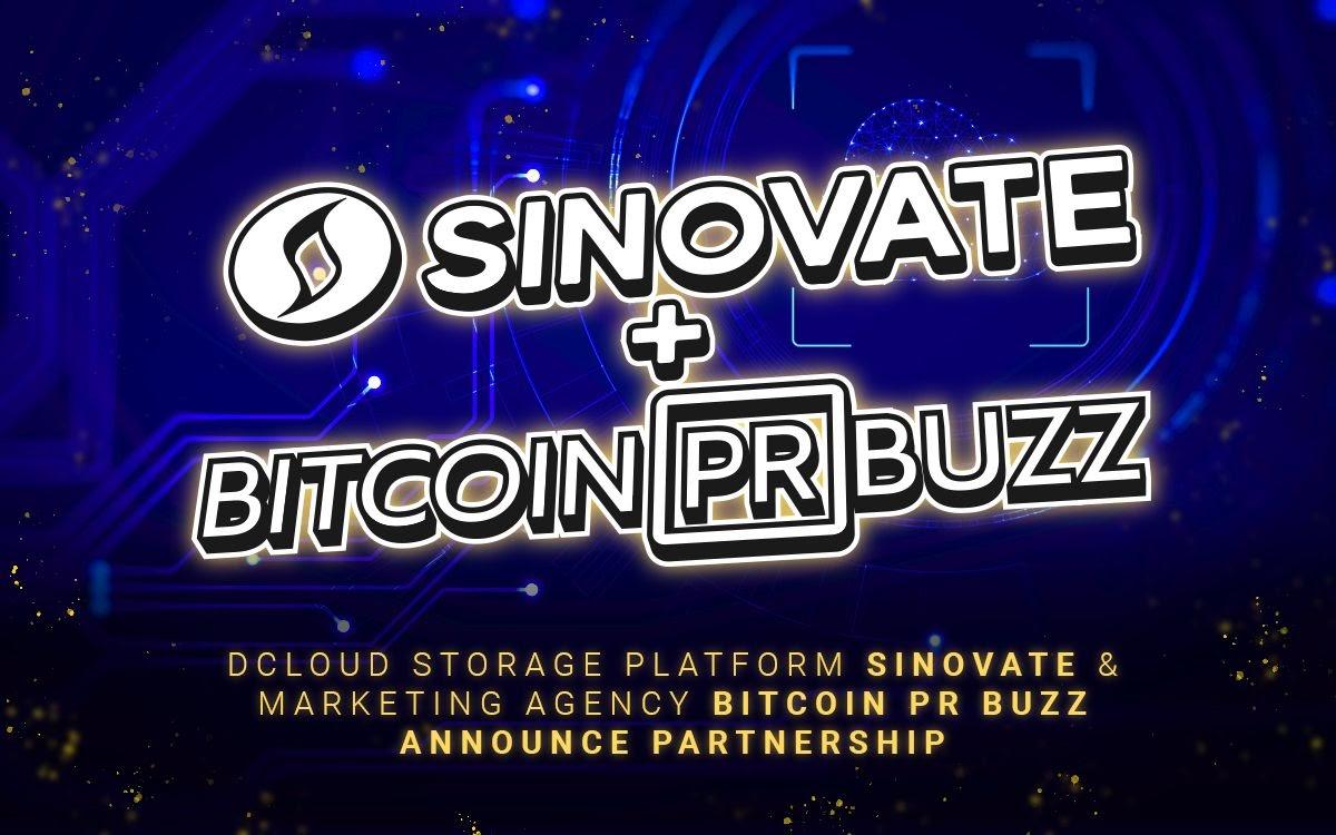 dCloud Storage Platform SINOVATE & Blockchain Marketing Agency Bitcoin PR Buzz Announce Partnership