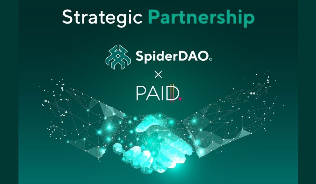 SpiderDAO Partners with PAID Network to Utilize Trustless SMART Agreements