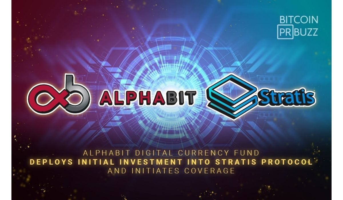 Stratis' Innovative Blockchain Solutions Attracts Attention Of Digital Asset Investment Fund, Alphabit