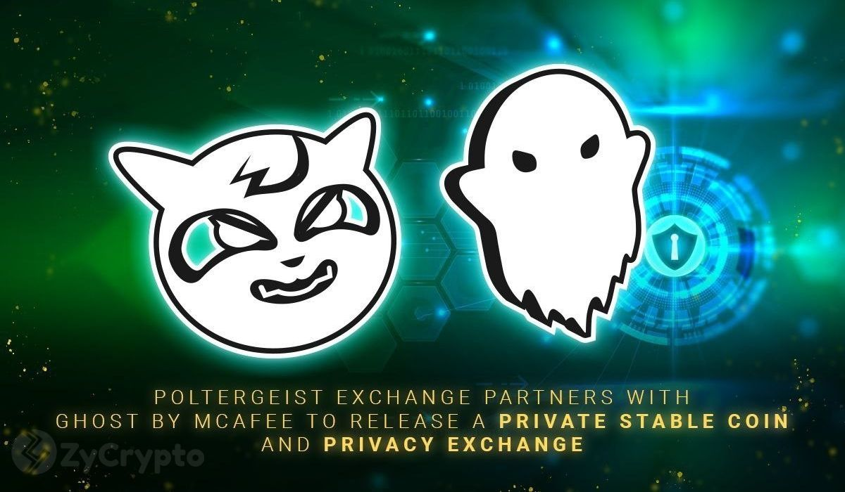 Poltergeist Exchange Partners with Ghost By McAfee to Issue a Private Stable Coin and DEX