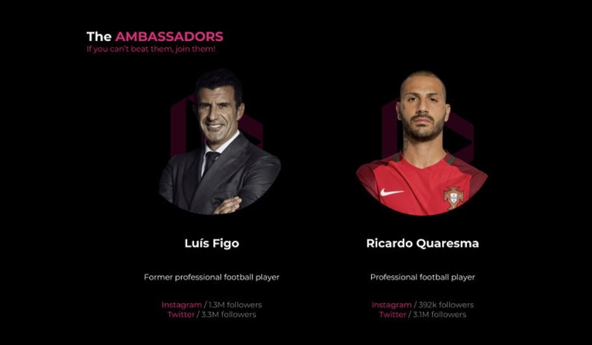 Crypto-Enabled Sports Competition Startup dotmoovs introduces Luís Figo and Ricardo Quaresma as Brand Ambassadors