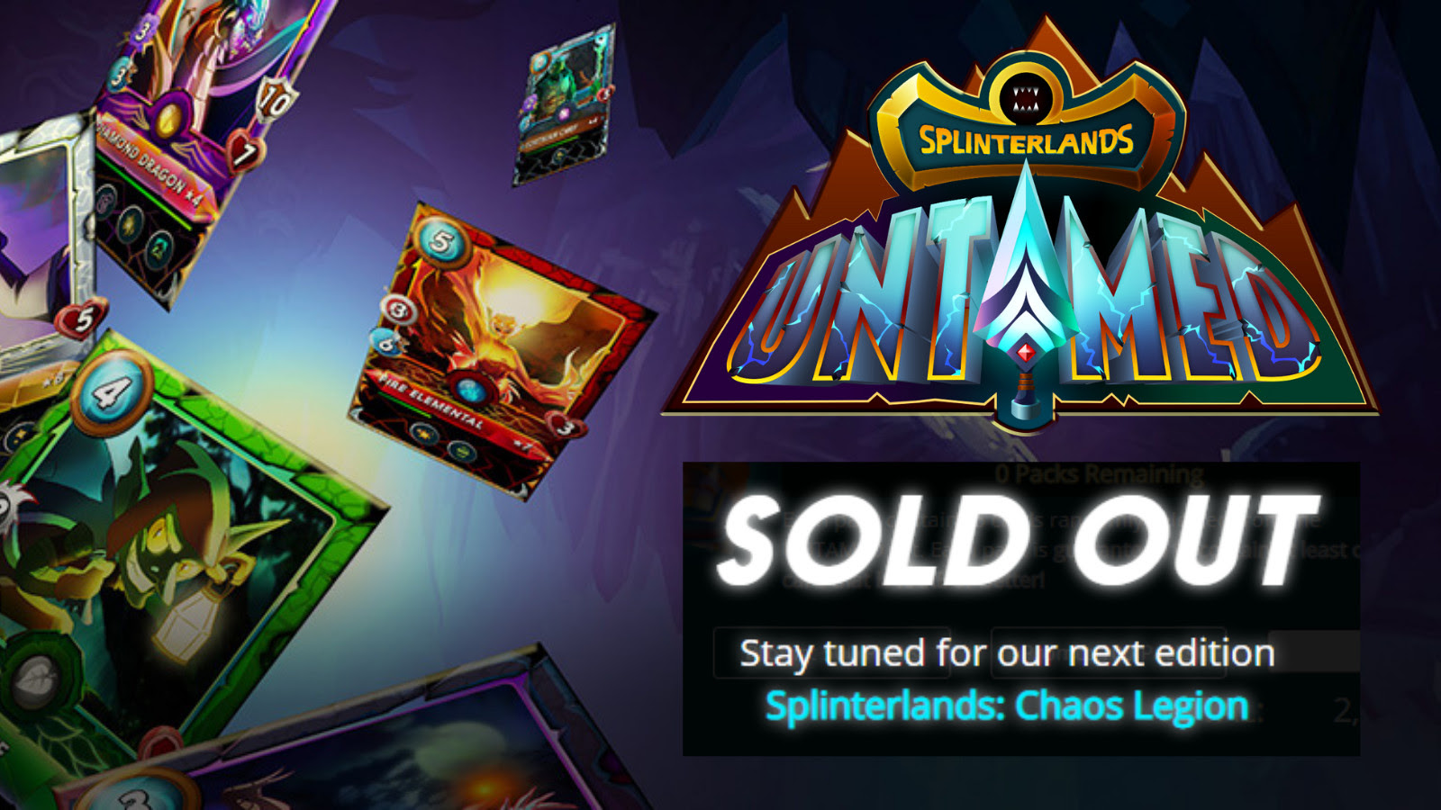 Splinterlands Blockchain-Backed Game Announces Sell Out Of 1.5M Untamed Edition Booster Packs