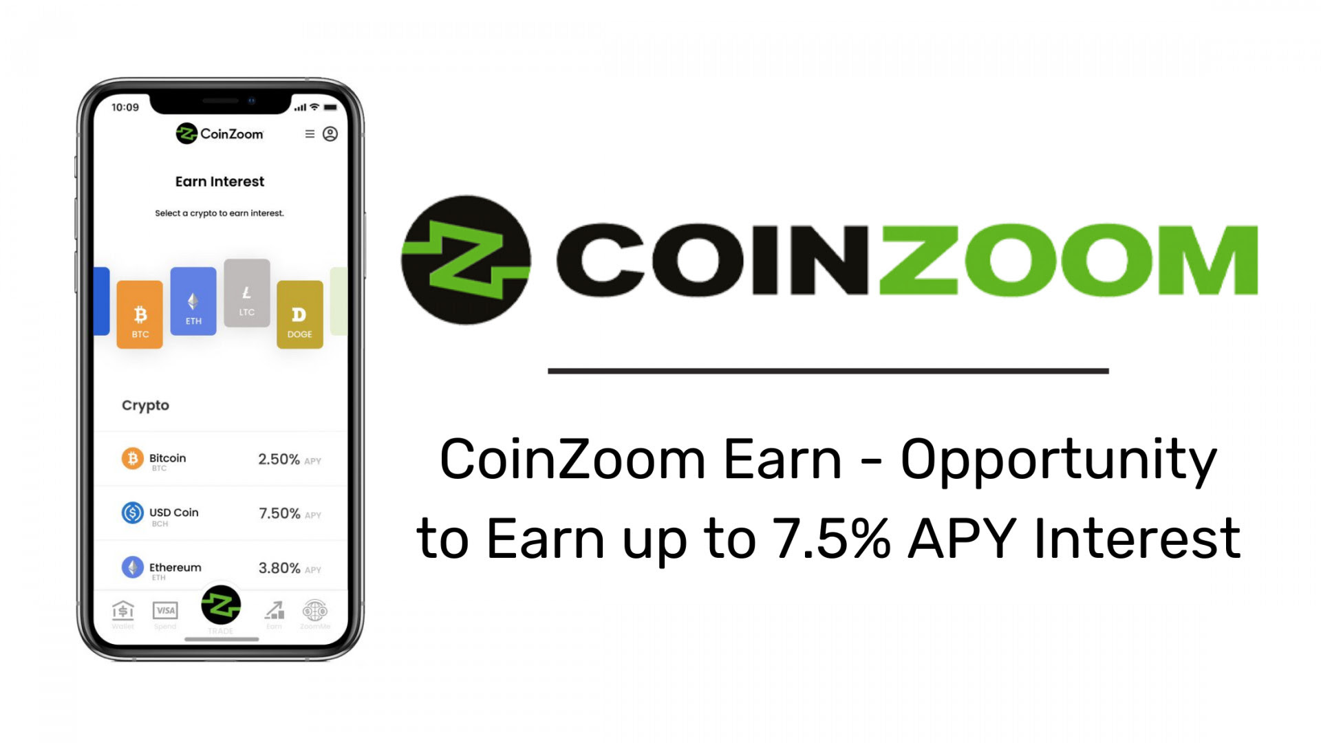 CoinZoom Launches CoinZoom Earn Wallet Offering Up to 7.5% APY