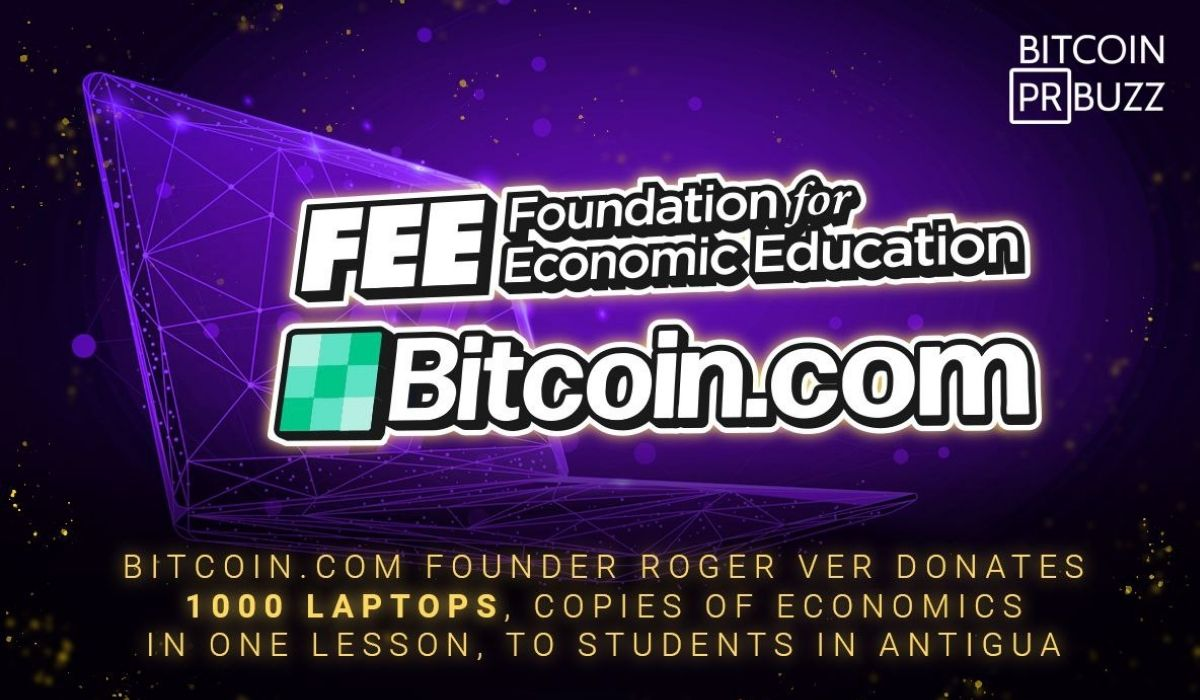 Bitcoin.com Founder Roger Ver Donates 1000 Laptops, Copies of Economics in One Lesson, to Students in Antigua