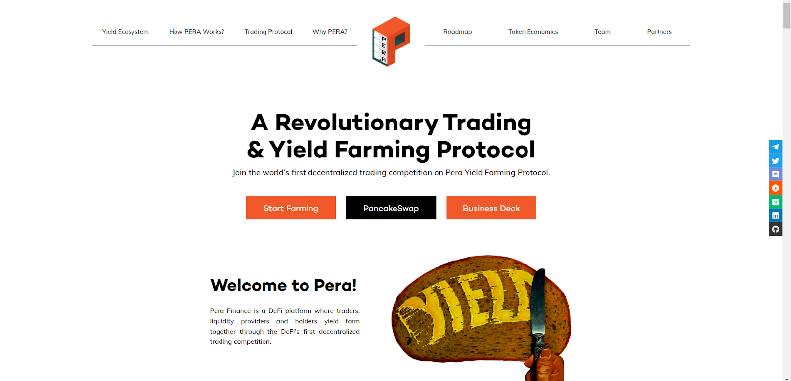 Trader-oriented Yield Farming Protocol Pera Finance announces listing on Pancakeswap and Gate.io