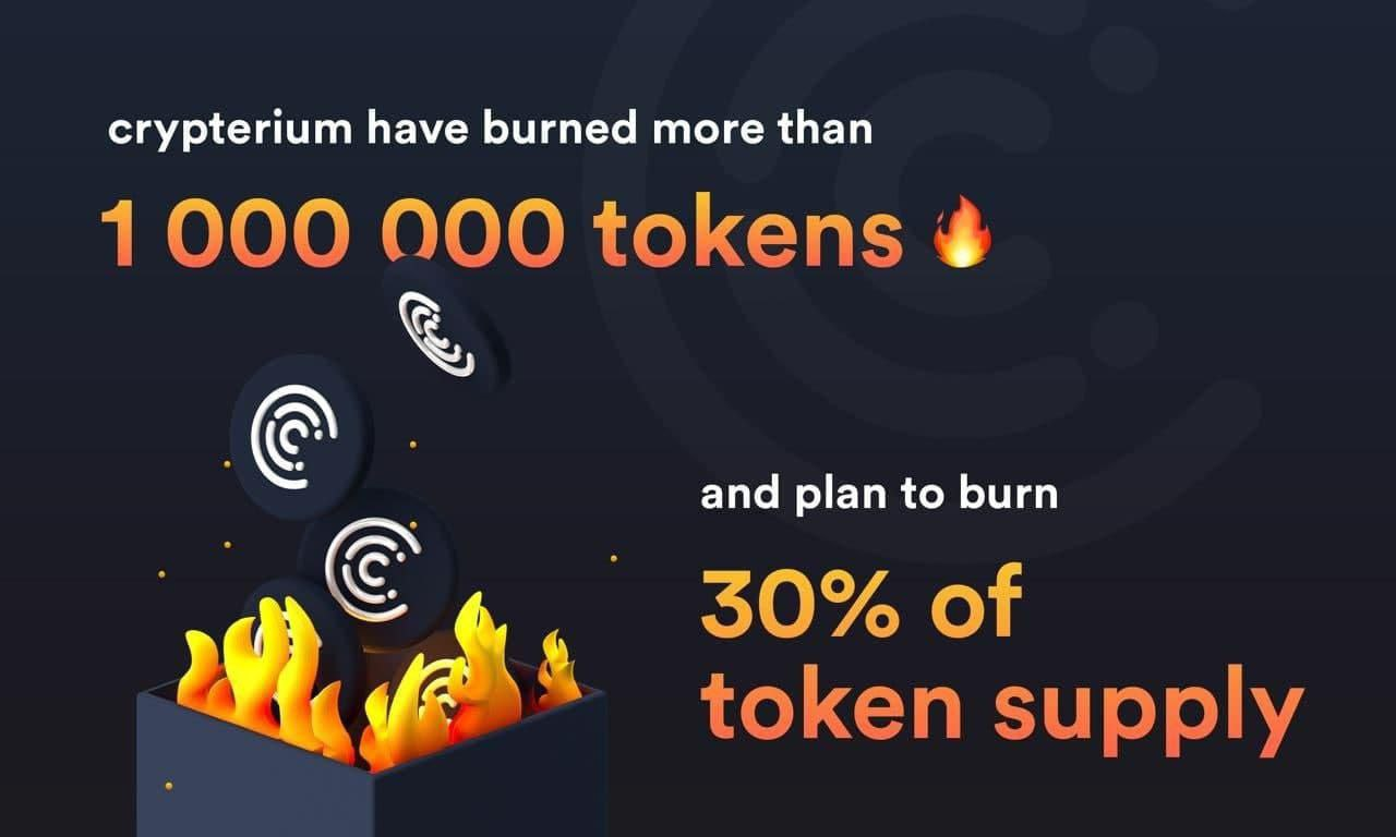 Crypterium Burns A Million Tokens