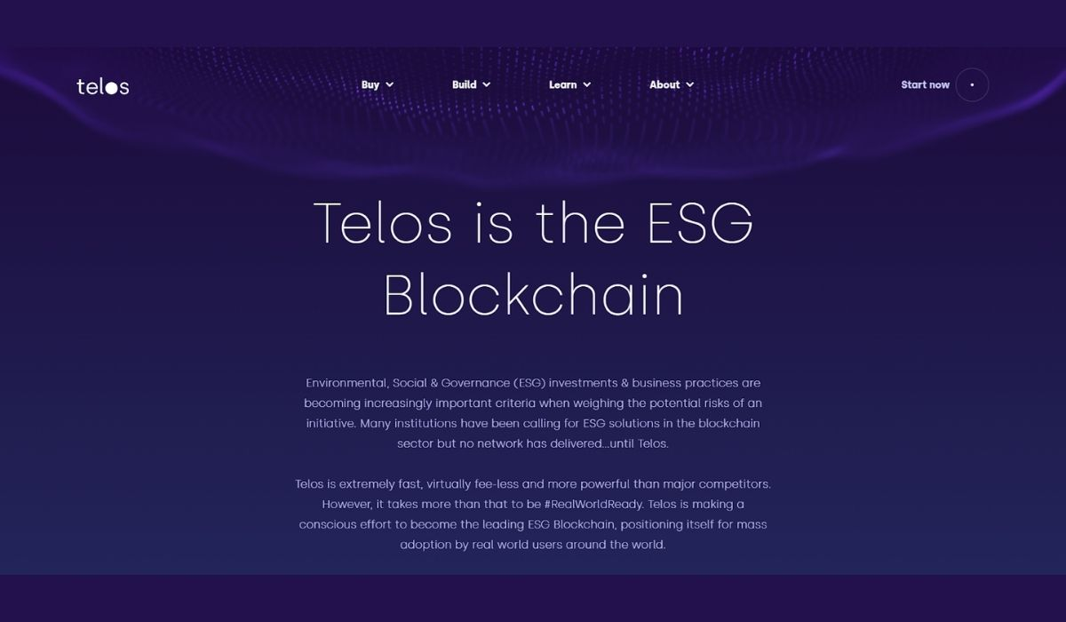 With the current awareness of global warming, ESG blockchain projects like Telos are on the rise