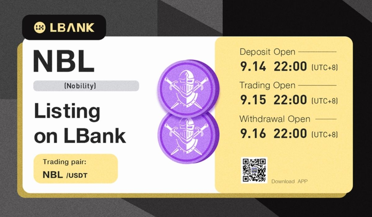 LBank Exchange To List Nobility (NBL) On September 15, 2021