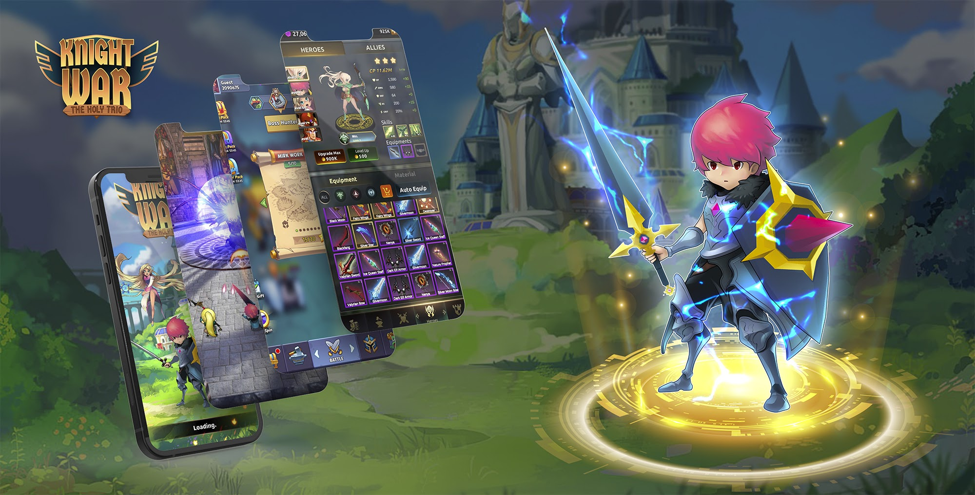 Revolutionary Blockchain Game Knight War The Holy Trio to premiere on Redkite & BSCStation