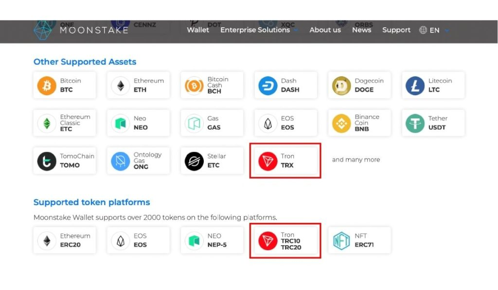 Moonstake Wallet Now Supports TRON (TRX) Staking Among Other Developments