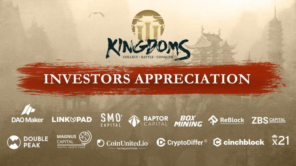 NFT Game 'The Three Kingdoms' Secures $3.2 Million In Funding